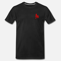 Chest Piece Tee - Black/Red