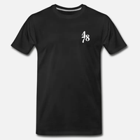 Chest Piece Tee - Black/White