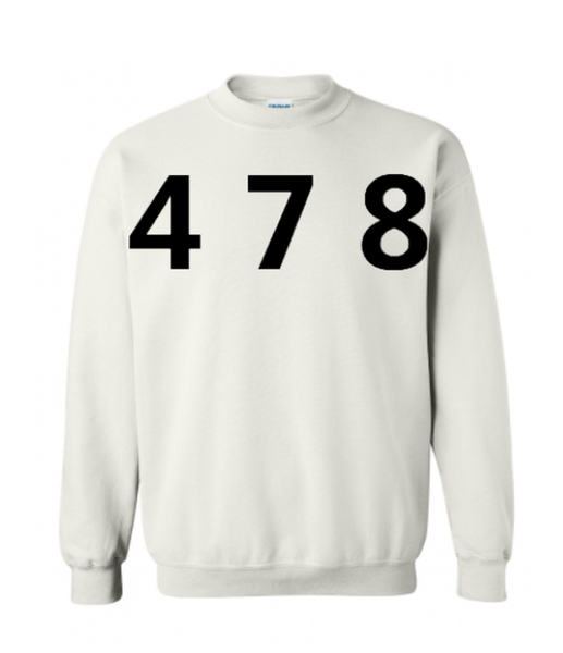 478 Area Code Crew - White/Black