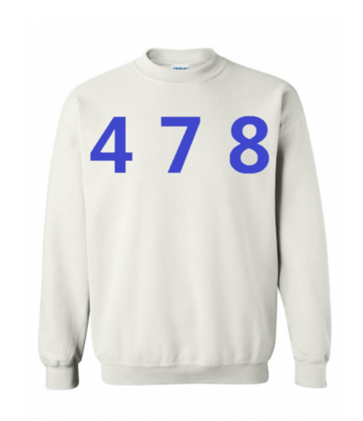 478 Area Code Crew - White/Blue