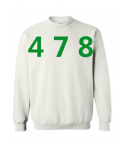 478 Area Code Crew - White/Green