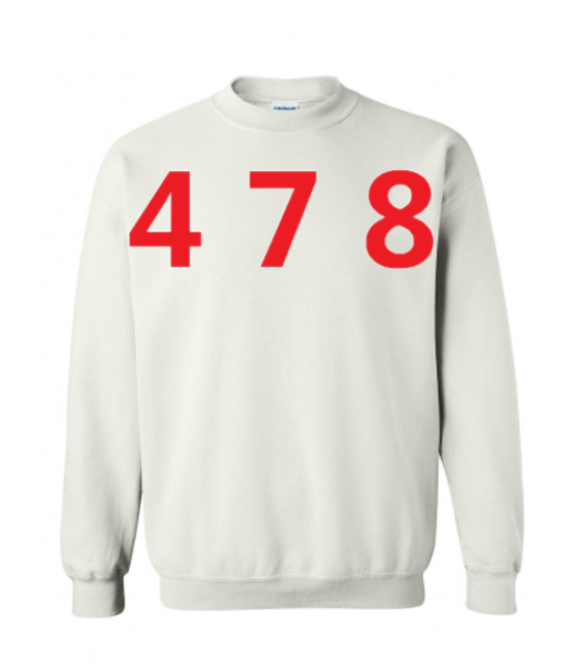 478 Area Code Crew - White/Red