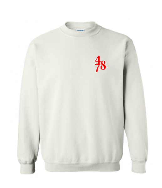 Chest Piece Crew - White/Red