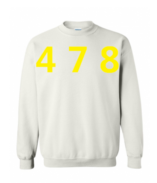 478 Area Code Crew - White/Yellow