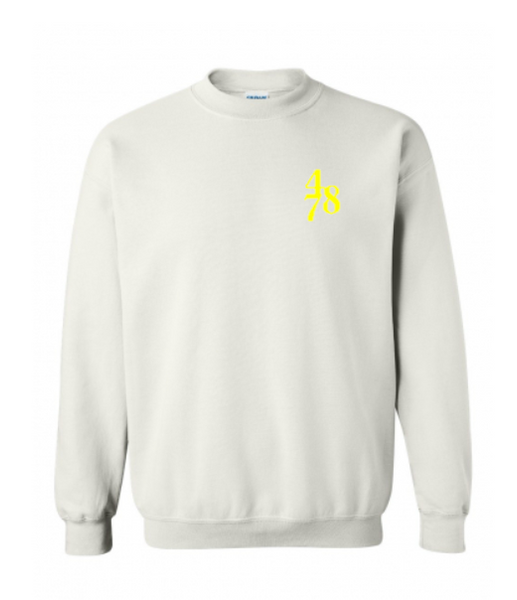 Chest Piece Crew - White/Yellow