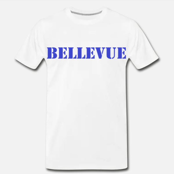 Bellevue Tee - White/Blue