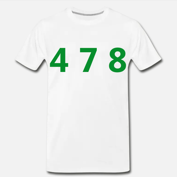 478 Area Code - White/Green