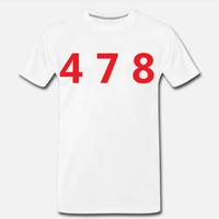478 Area Code Tee - White/Red
