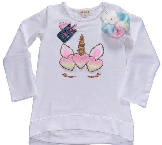 Btween Girls- Unicorn Print Sweatshirt