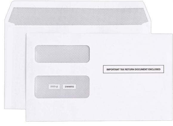 25 - Self-Seal Envelopes for 1099-NEC/MISC 2-Part forms.