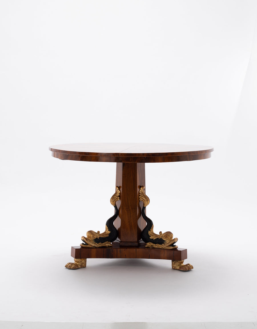 EARLY 20TH CENTURY EMPIRE STYLE CENTER TABLE