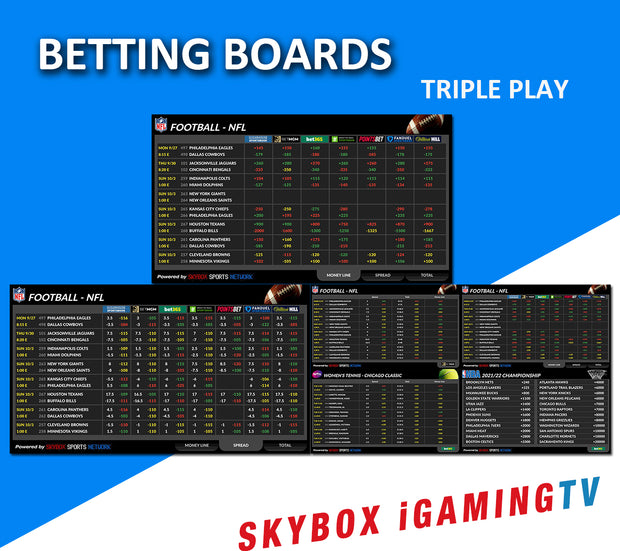 TRIPLE PLAY BETTING BOARD