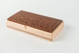 Lacewood on Maple with Walnut Inlay (Medium)