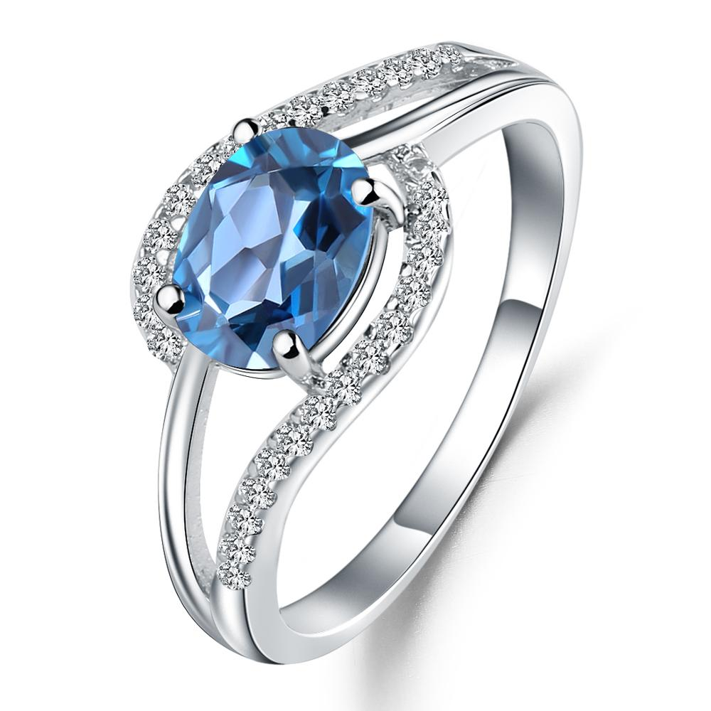 Sterling Silver 1.57 Ct Topaz Ring for Women