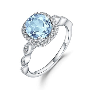 Sterling Silver 2.57 Ct Topaz Ring for Women