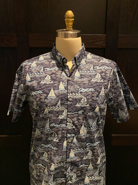 "TR x LS ""Fish-N-Sea"" Aloha Shirt in Blue"