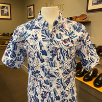 "TR x LS ""Trading Spaces"" Aloha Shirt in White"
