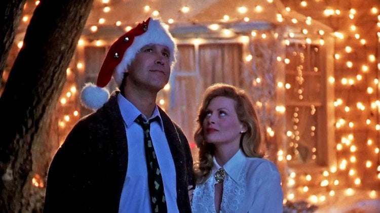 "Getting into Holiday Jeer with Xmas Classics like Lampoon's ""Christmas Vacation"""