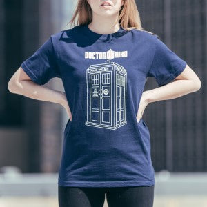 April 10 - Series 7 Linear TARDIS T-Shirt