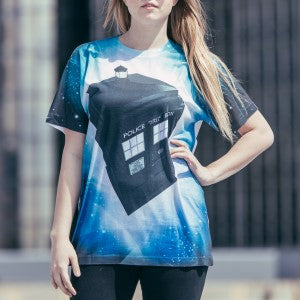 April 11 winner - Doctor Who TARDIS Glowing Stars Sublimation T-Shirt