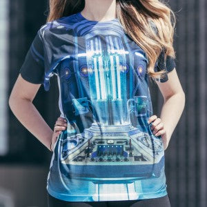 April-12-winner - Inside of TARDIS Adult Sublimation T-Shirt