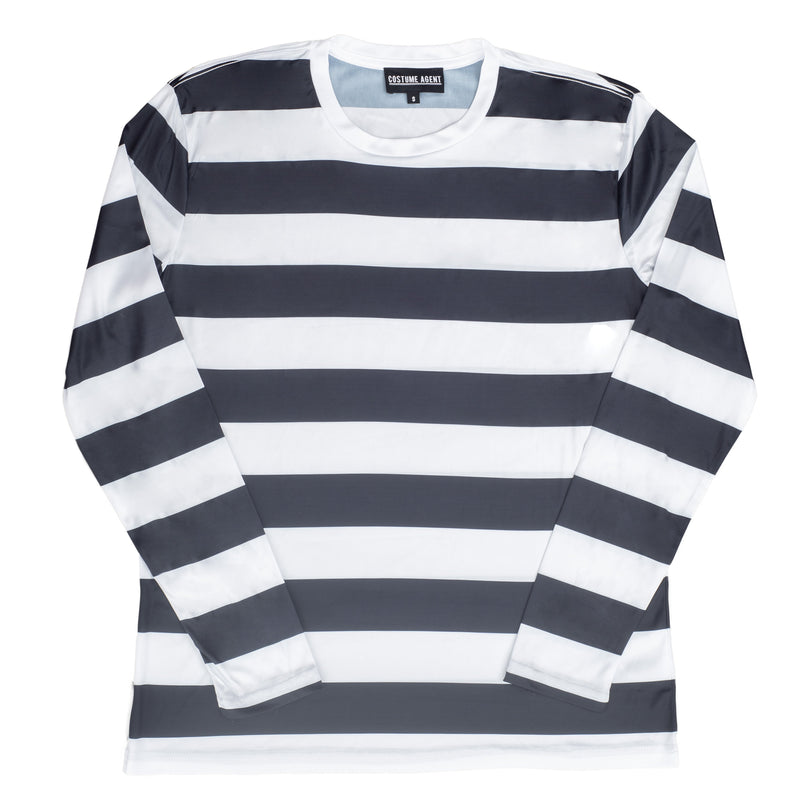 Halloween Costume Waldo Robber Striped Long Sleeve Shirt