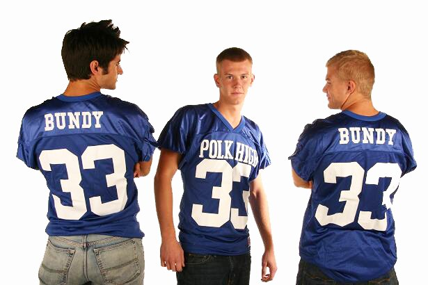 Polk High 33 Officially Licensed Youth Distressed Football Jersey-tvso