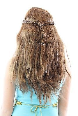 Medieval Princess Queen Braided Costume Wig-tvso