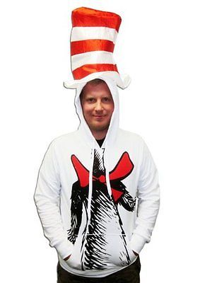 Cat in the Hat Hoodie with Hat-tvso