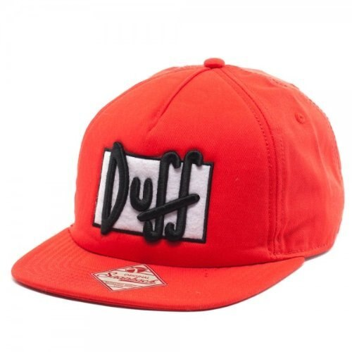 Duff Beer Duffman Red Adjustable Baseball Hat-tvso