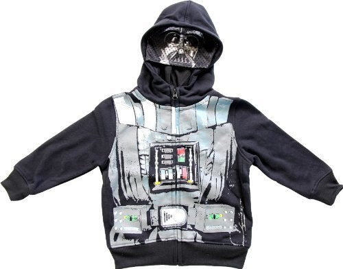 Star Wars Darth Vader Black Zip Up Costume Hoodie Sweatshirt-tvso
