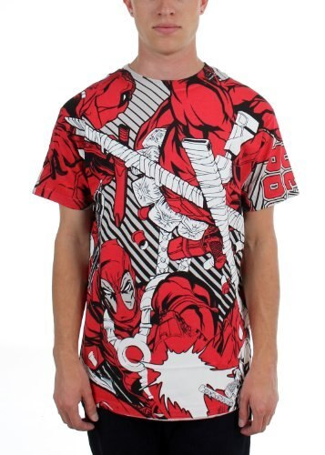 Deadpool Dead Red AOP Glow in the Dark T-shirt-tvso