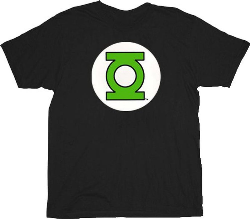 Green Lantern Logo Black Adult T-shirt-tvso