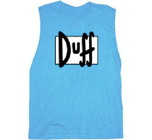 Simpsons Duff Beer Sleeveless T-shirt-tvso