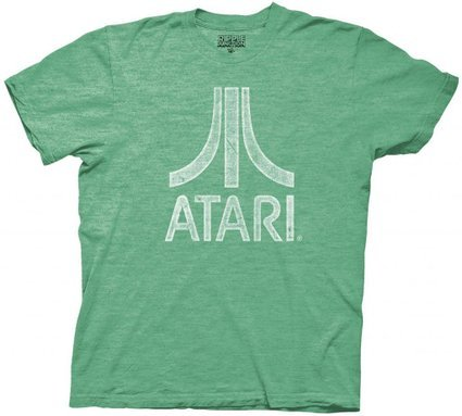 Atari Distressed Logo Adult T-Shirt-tvso