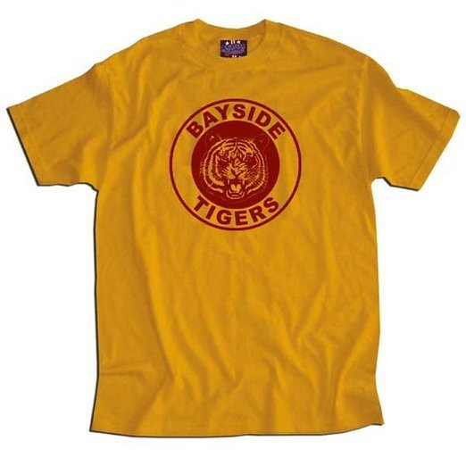 Saved By the Bell Bayside Gold Tigers T-shirt-tvso