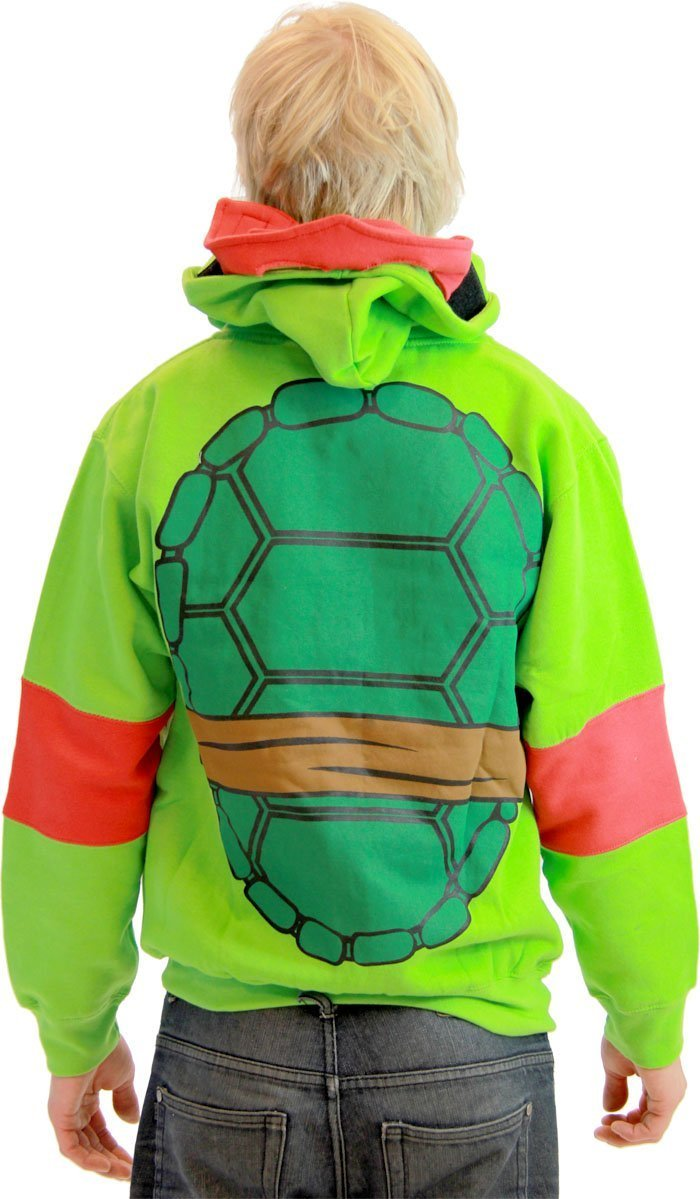 TMNT Costume Hooded Sweatshirt with Detachable Eye Mask-tvso