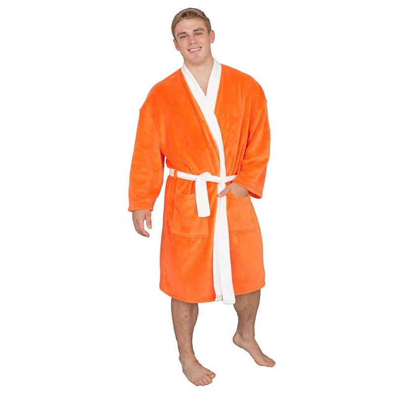 Ron Burgundy Pool Party Orange Robe Halloween Costume-tvso