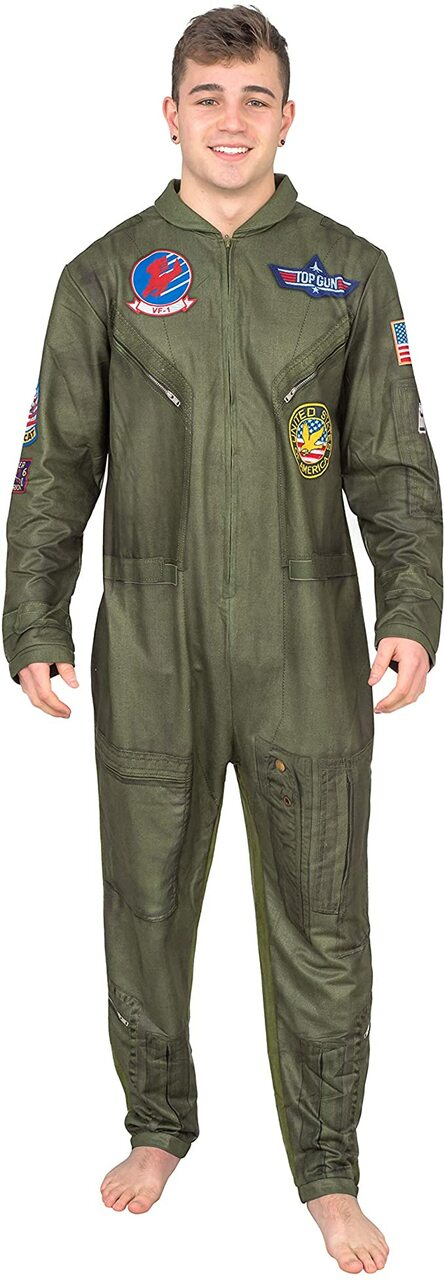 Top Gun Flight Suit Costume Pajama Union Suit