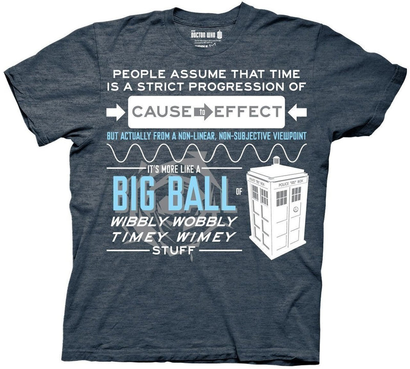 Doctor Who Wibbly Wobbly Quote T-Shirt-tvso