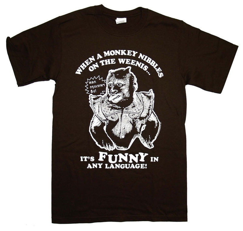 Monkey Nibbles on the Weenis Funny T-shirt-tvso