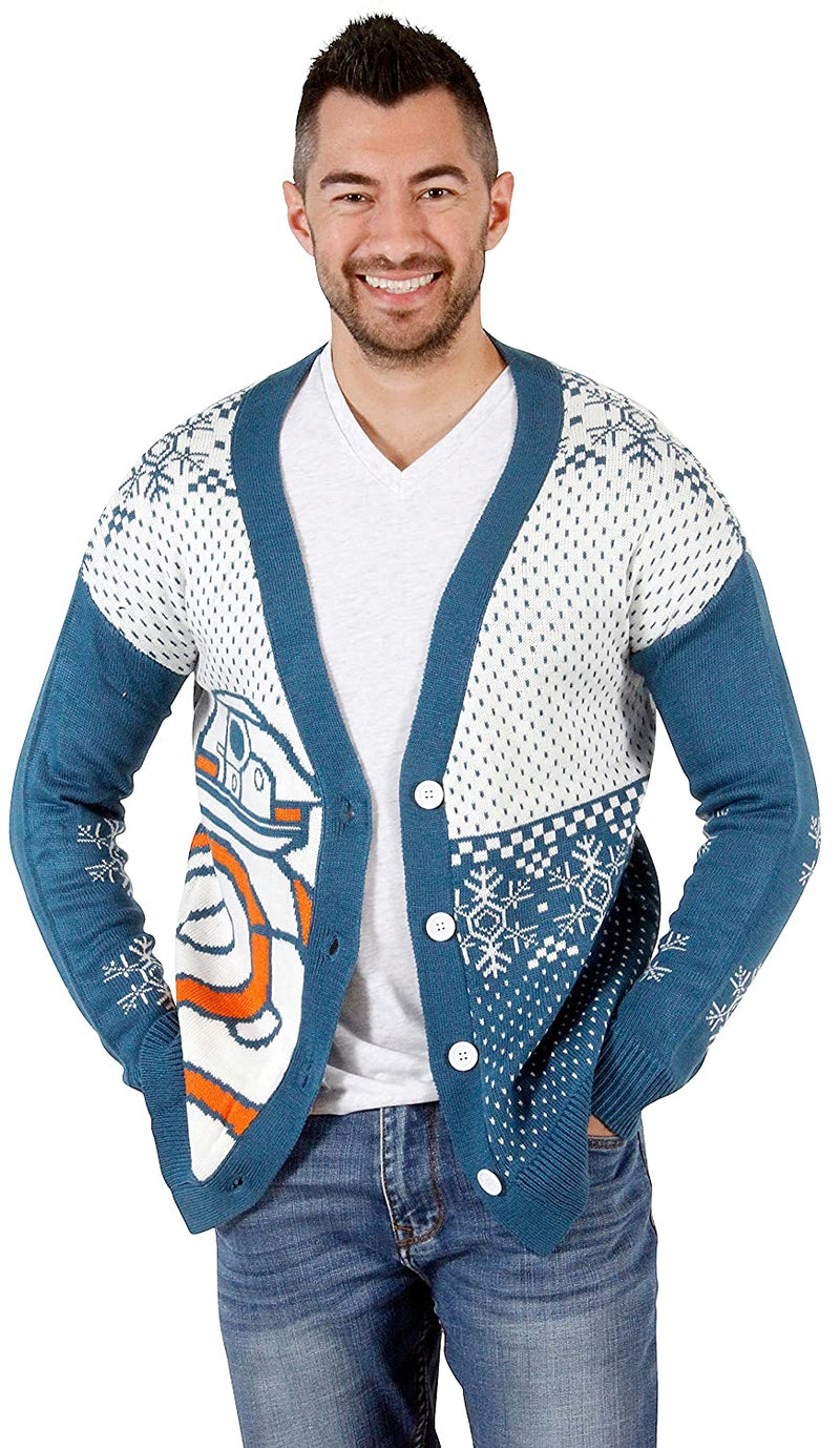 BB8 Ugly Christmas Cardigan Sweater