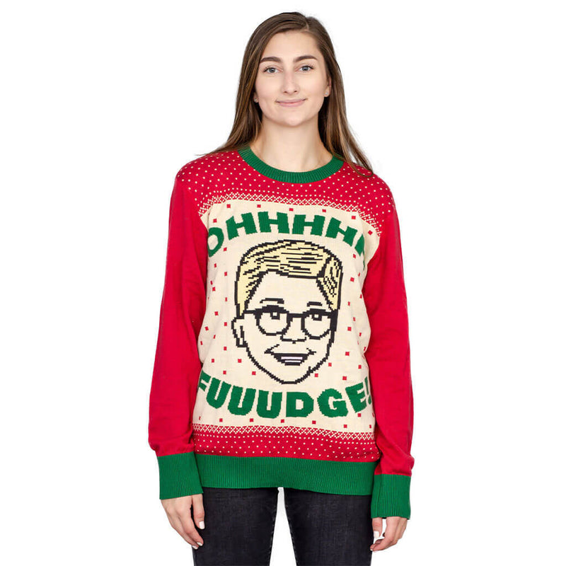 A Christmas Story Ohhhh Fuuudge! Ralphie Ugly Christmas Sweater-tvso