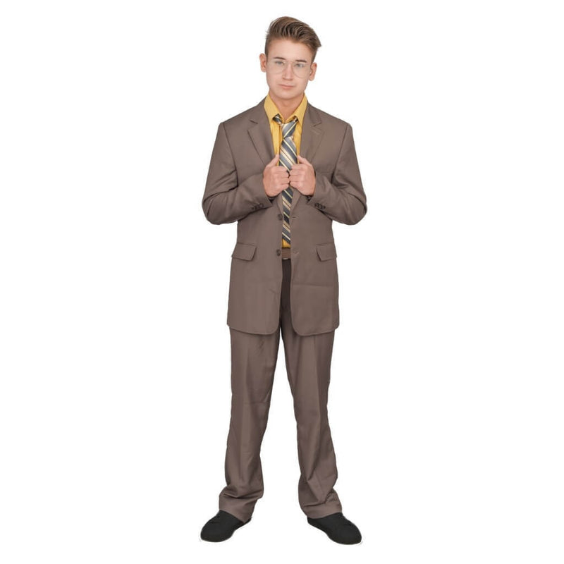 Adult Halloween Costume Set Office Schrute Complete Suit-tvso