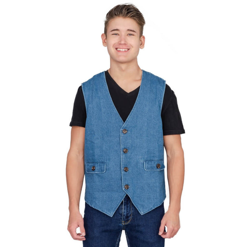 Adult Halloween Costume Uncle Rico Jeans Vest-tvso