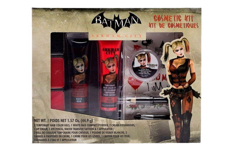 Batman Arkham City Harley Quinn Makeup Cosmetic Kit-tvso