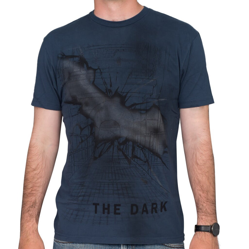 Batman Stay Tune The Dark Navy T-Shirt-tvso