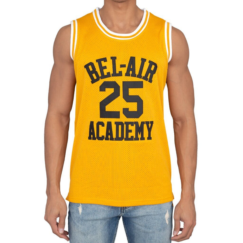 Bel Air Basketball Yellow Jersey-tvso