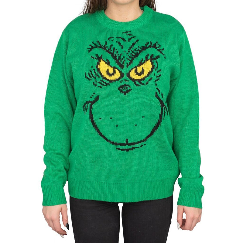 Big Face Grinch Sweater-tvso