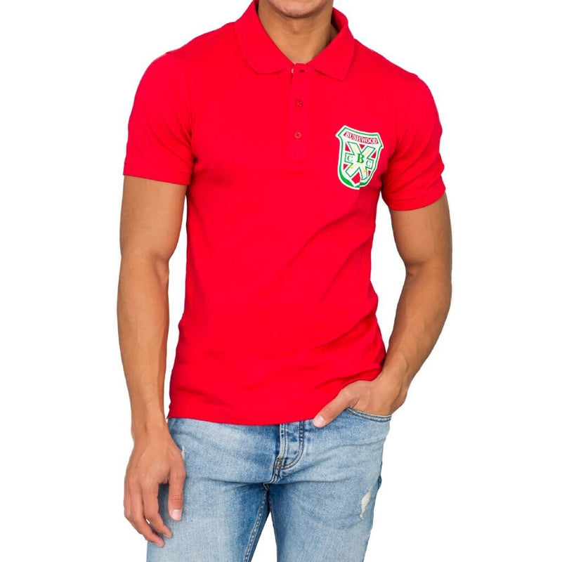 Bushwood Mens Red Polo Tee-tvso